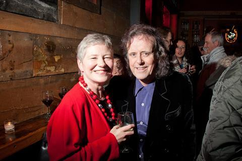 Dame Barbara Hay with musician Donovan